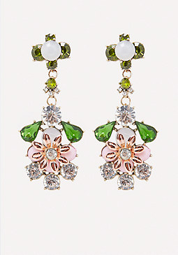 bebe Flower Drop Earrings