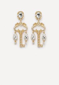 Crystal Key Drop Earrings