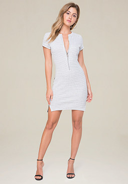 bebe Mila Textured Dress