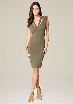 bebe Priscilla Crepe Dress