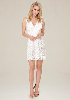 Andria Lace V-Neck Dress
