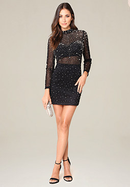 bebe Jessa Embellished Dress