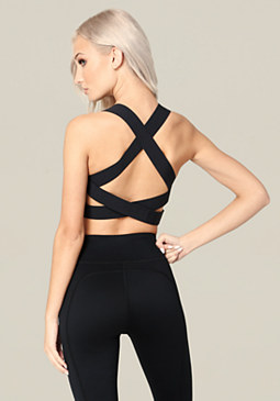 bebe Crisscross Back Bra Top