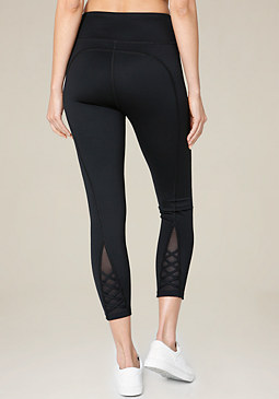 bebe Back Crisscross Leggings