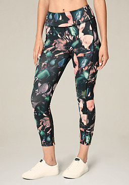 bebe Print Lace Up Leggings