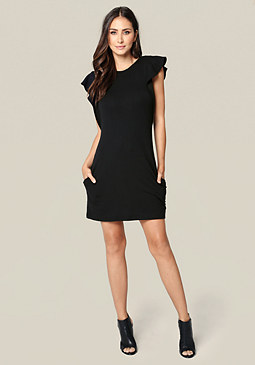 bebe Luxe Back Crisscross Dress