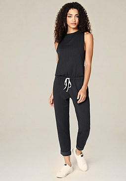 bebe Luxe Drawstring Jumpsuit