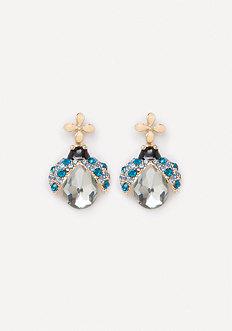 Ladybug Drop Earrings