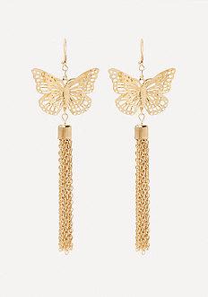 Butterfly Tassel Earrings