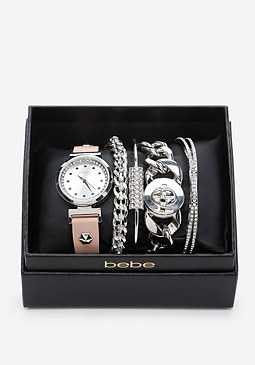 bebe Watch & Bracelet Set