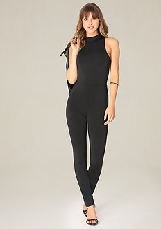 Black Exposed Jumpsuit