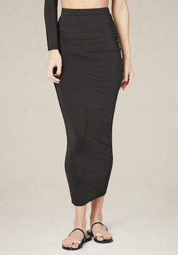 bebe Black Silhouette Skirt