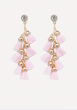 bebe Tassel Drop Earrings