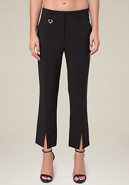 bebe Vented Flare Crop Pants