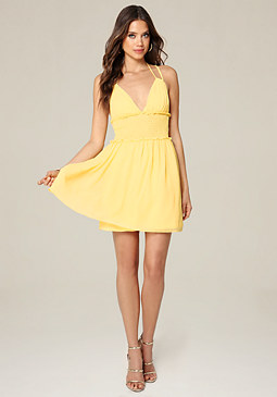 bebe Double Strap Day Dress