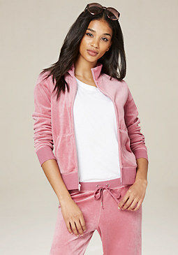 bebe Velour Zip Jacket