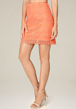 bebe Medallion Lace Skirt