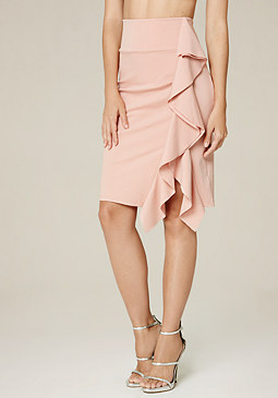 bebe Ruffled Skirt