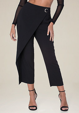 bebe Front Crossover Trousers