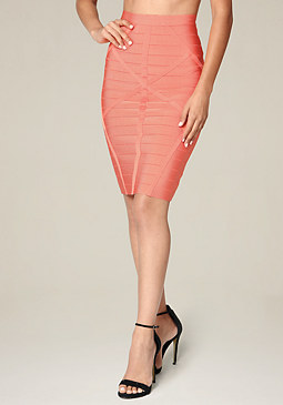 bebe Bandage Pencil Skirt