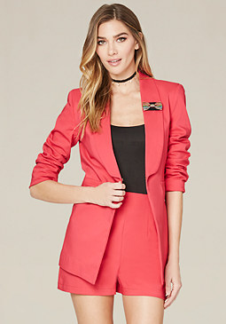 bebe Bow Pin Jacket