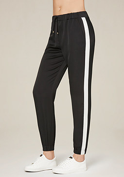 bebe Striped Jogger Pants