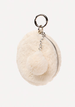 bebe Zip Pouch Key Chain