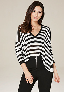 bebe Drop Shoulder Sweater