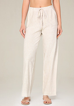 bebe Striped Cargo Pants