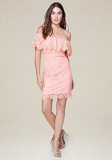 Scallop Lace Mini Dress