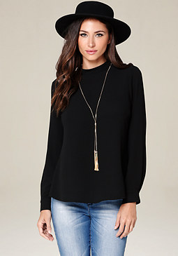 bebe Serina Necklace Top