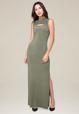 bebe Logo Shirley Maxi Dress