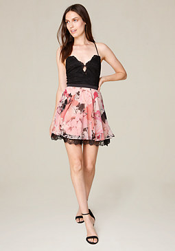 bebe Kaylee Lace Skater Dress