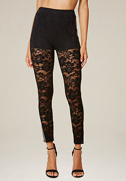 bebe Lace Sporty Leggings