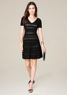 Pointelle Flared Dress