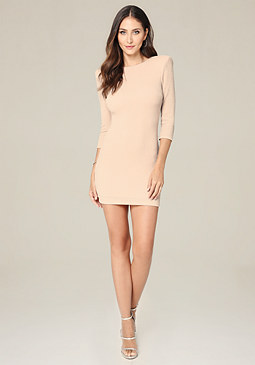 bebe Metallic Scoopback Dress