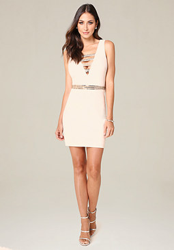 bebe Harlow Double V Dress
