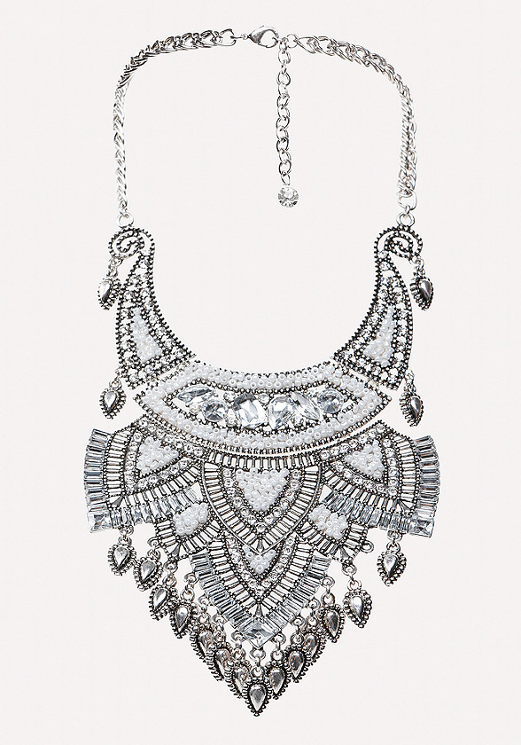 Crystal Plate Bib Necklace