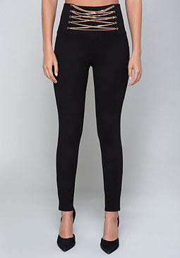 bebe Athena Chain Waist Leggings
