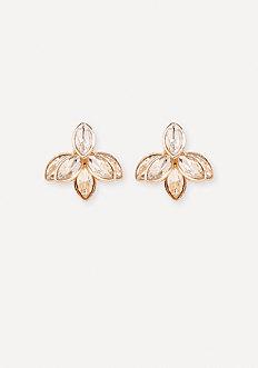 Crystal Flower Ear Jackets