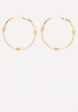 bebe Wrap Hoop Earrings