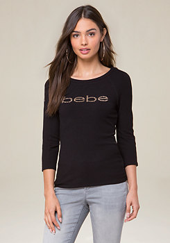 bebe Marjorie Zip Shoulder Top
