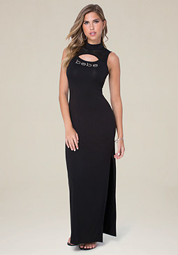 bebe Shirley Mesh Maxi Dress