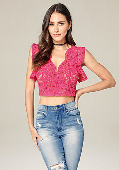 Lace Hook Up Top