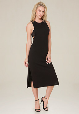 bebe Slub Knit Midi Dress