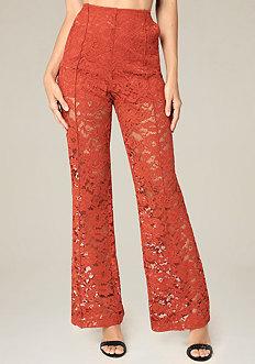 Lace Wide Leg Trousers