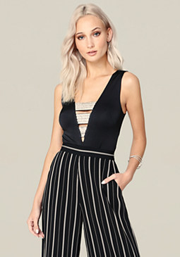 bebe Jewel Banded Top