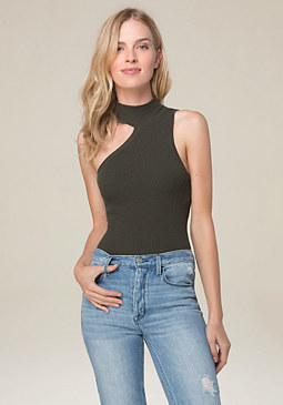 bebe One Shoulder Bodysuit
