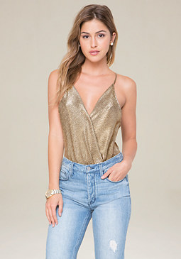 bebe X-Back Deep V Bodysuit