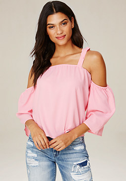 bebe Bella Tie Shoulder Top